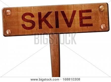 Skive road sign, 3D rendering