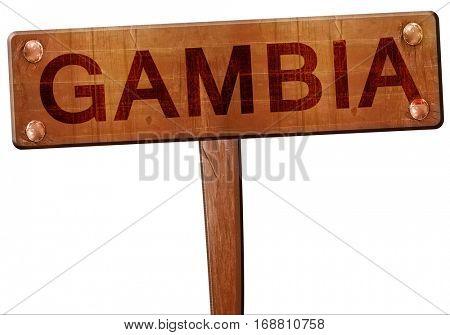 Gambia road sign, 3D rendering