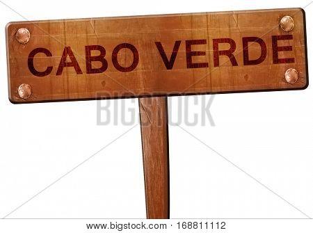 Cabo verde road sign, 3D rendering