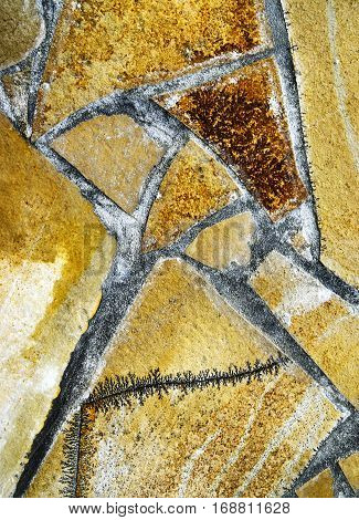 background or texture Abstract detail stone pavement