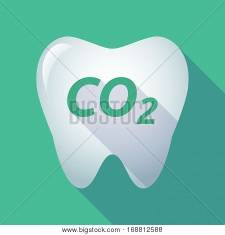 Long Shadow Tooth With    The Text Co2