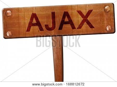 Ajax road sign, 3D rendering