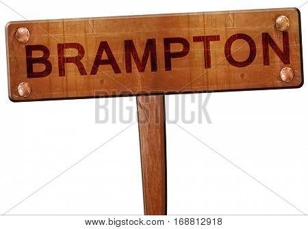 Brampton road sign, 3D rendering