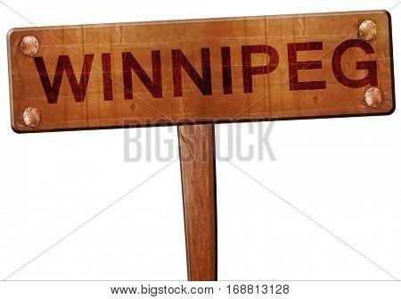 Winnipeg road sign, 3D rendering