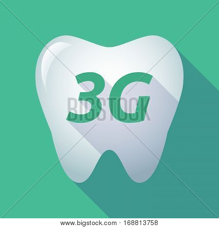 Long Shadow Tooth With    The Text 3G