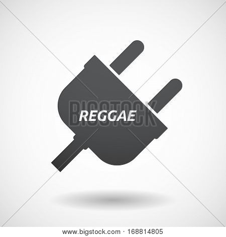 Isolated Plug With    The Text Reggae