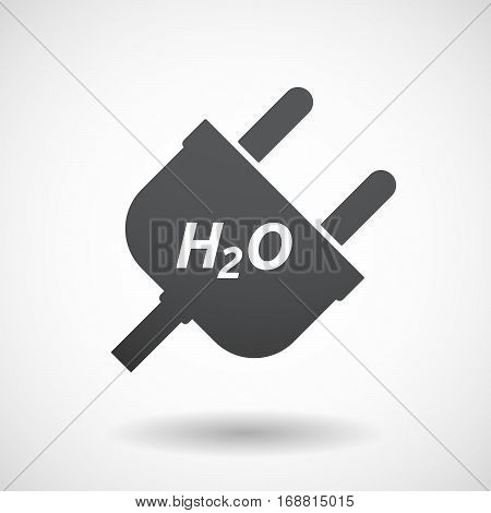 Isolated Plug With    The Text H2O