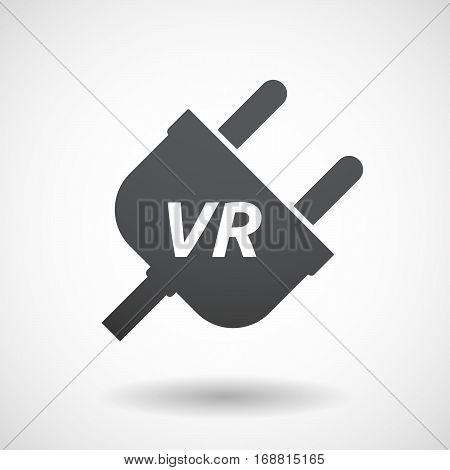 Isolated Plug With    The Virtual Reality Acronym Vr