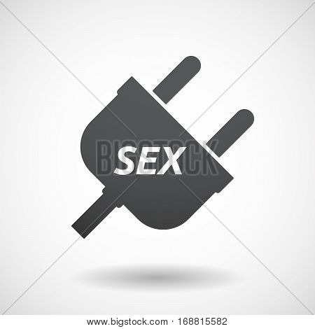 Isolated Plug With    The Text Sex
