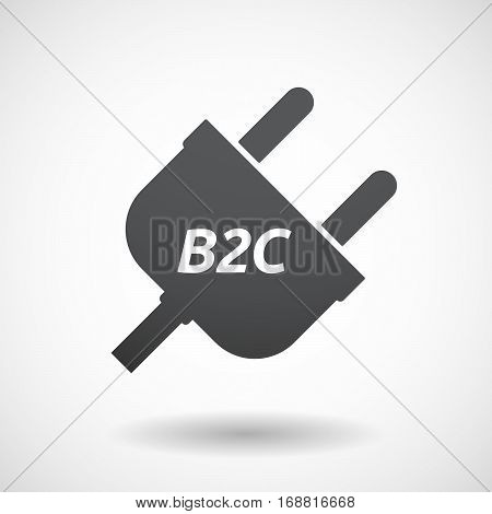 Isolated Plug With    The Text B2C