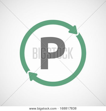 Isolated Reuse Sign With    The Letter P