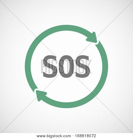 Isolated Reuse Sign With    The Text Sos