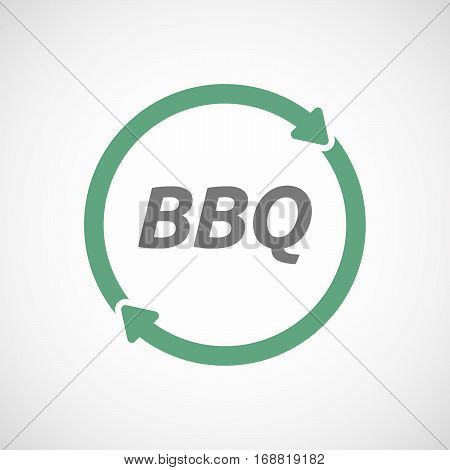 Isolated Reuse Sign With    The Text Bbq