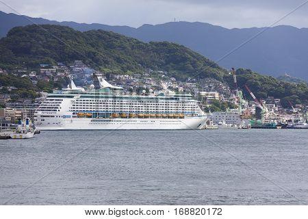 Nagasaki, Japan - September 9: Voyager Of The Seas Cruise Ship In Port Of Nagasaki, Japan.  Septembe