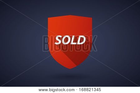 Long Shadow Shield With    The Text Sold