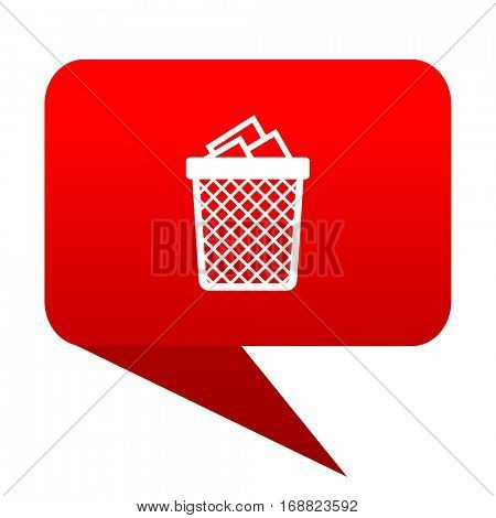 Trash can red bubble icon