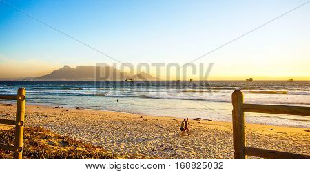 Bloubergstrand with a view of the Tafelberg and Cape Town