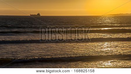Sunset at Bloubergstrand near Cape Town South Africa