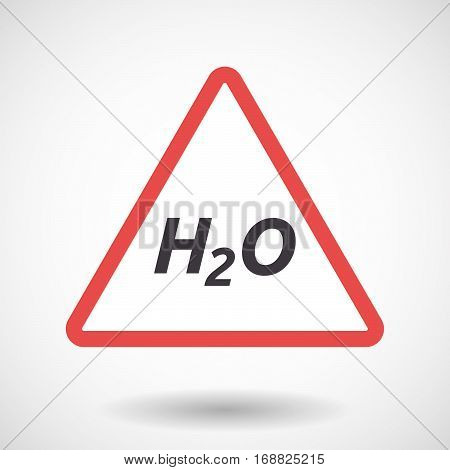 Isolated Warning Signal With    The Text H2O