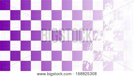 A purple chequered flag faded with a heavy grunge FX