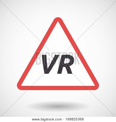 Isolated Warning Signal With    The Virtual Reality Acronym Vr