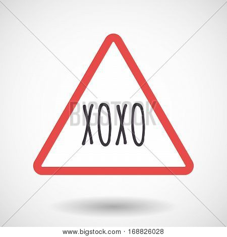 Isolated Warning Signal With    The Text Xoxo