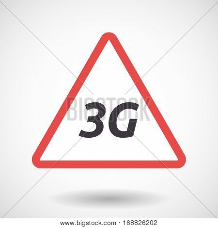 Isolated Warning Signal With    The Text 3G
