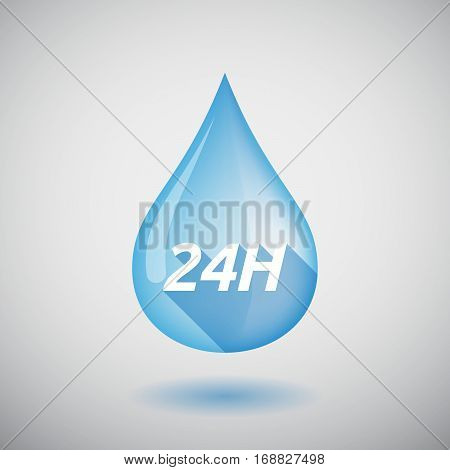 Long Shadow Water Drop With    The Text 24H