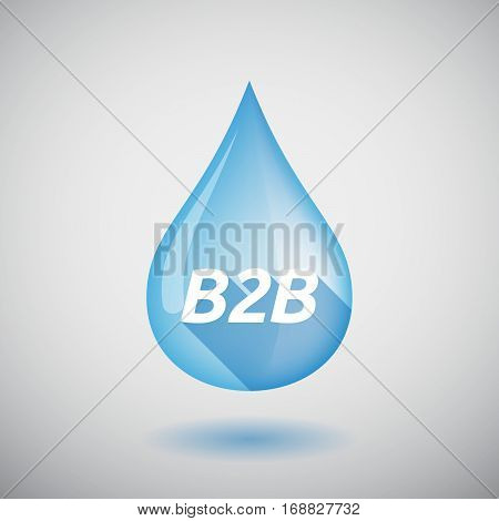 Long Shadow Water Drop With    The Text B2B