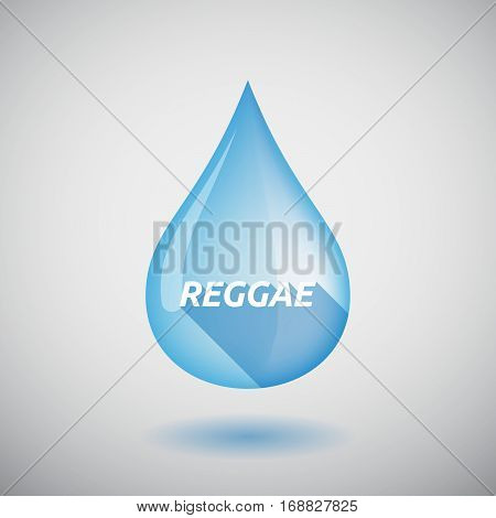 Long Shadow Water Drop With    The Text Reggae