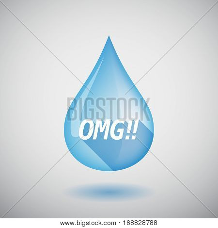 Long Shadow Water Drop With    The Text Omg!!