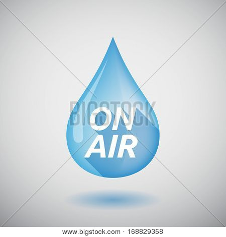 Long Shadow Water Drop With    The Text On Air