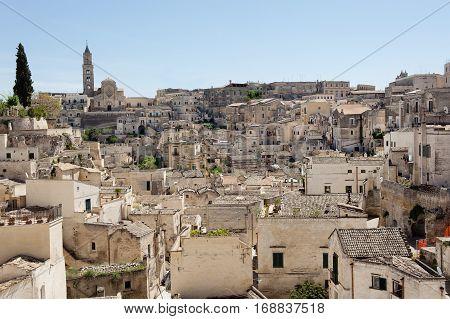 Matera ancient town scenic view Basilicata Italy