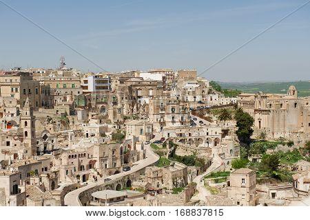 Ancient stone village of Matera Basilicata Italy
