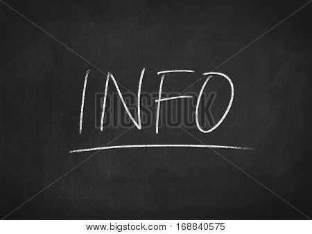 info concept word text on blackboard background