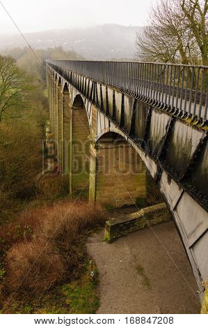 The Pontcysyllte aqueduct in North Wales constructed in 1805 it is the longest and highest aqueduct in the UK and a World Heritage Site