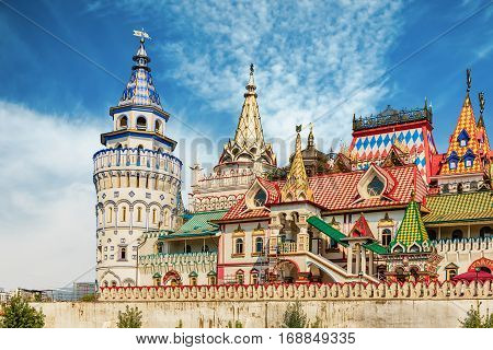 The Iconic Complex Izmailovskiy Kremlin In Moscow, Russia
