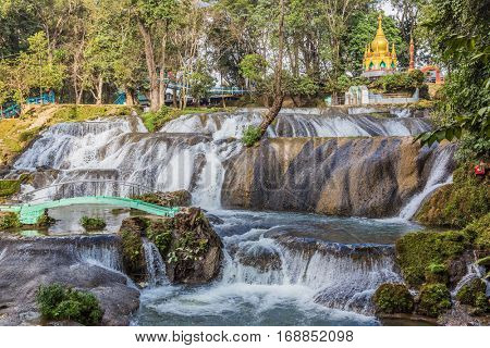Pwe Gauk Waterfall Pyin Oo Lwin Myanmar