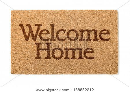 Welcome Home Mat Isolated On A White Background.