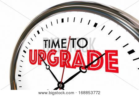 Time to Upgrade Clock Better Improvement 3d Illustration