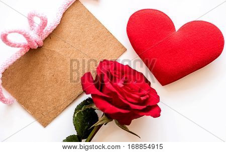Valentine's day love and sweetest concept, rose flower