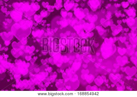 Background of heart bokeh for valentine's day concept