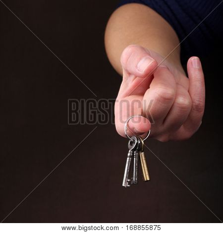 Hands with keys