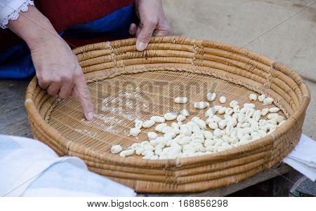Fresh pasta manual production - gnocchetti sardi