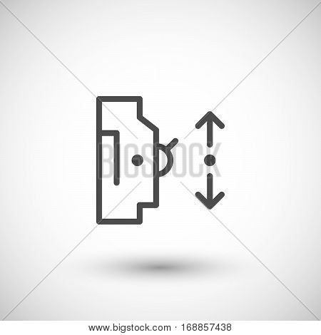 Automatic circuit breaker line icon isolated on grey. Vector illustration