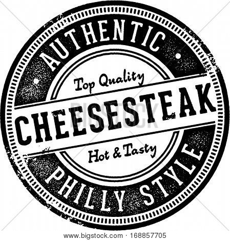 Authentic Philly Cheesesteak Sandwich Sign