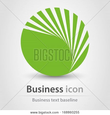 Originally created green textured business concept icon