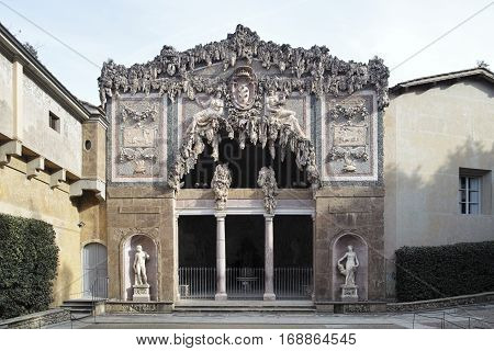 Florence - Grotto by Buontalenti in Boboli Gardens florence italy