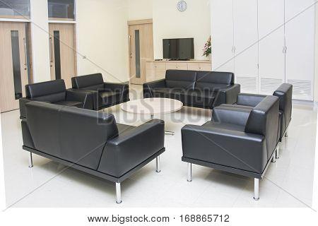 modern furniture in room apartment luxury design