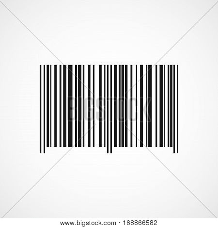 Barcode icon isolated on light background. Vector illustration. Black barcode in flat design